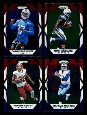 2017 Panini Prizm Football Red White Blue U-Pick Complete Your Set