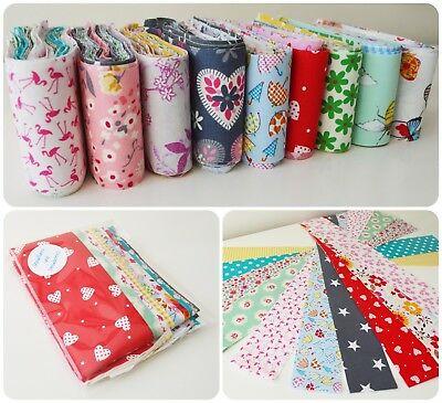 10 PATCHWORK JELLY ROLL STRIP 2.5inch polycotton FABRIC MATERIAL MIXED 44inch