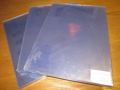 A4 Clear PVC Binding Covers 140 micron Unpunched comb wire binding 100 sheets