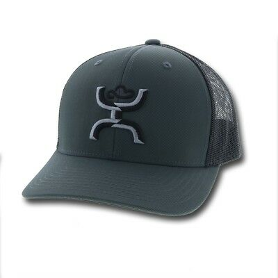 timeless design 9a76e 66058 Hooey Hat Sterling Black   Grey Snapback Ball Cap 1812T-GYBK