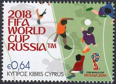 CYPRUS 2018 RUSSIA FIFA FOOTBALL SOCCER WORLD CUP New STAMP Issue MNH