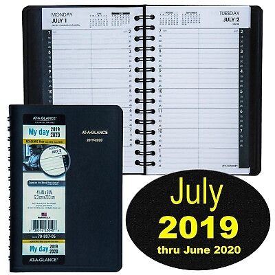 At-A-Glance 70-807-05 July 2019 thru June 2020 Academic Daily Appointment Book