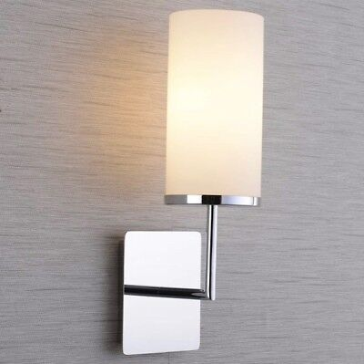 New Wall Sconce Lamp – Polished Chrome Mount, Frosted Glass ('AII Pro' Brand)