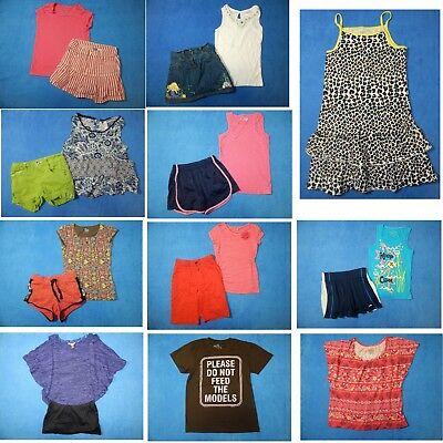 18 piece lot of nice clean girls Spring Summer clothing size 7-8 Everyday 3s30
