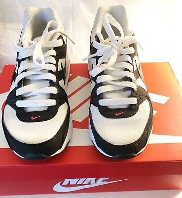 new concept 49056 1b5d6 Nike Air Max Command Flex (GS) White Black Kids Youth Shoes Size 6