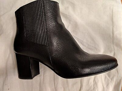 97c95619a Pedro Garcia Black Leather Made in Spain Xolani Chelsea Bootie Sz 38.5