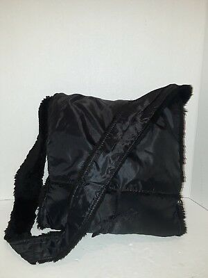 ARMANI EXCHANGE Purse Nylon Crossbody Messenger Shoulder Handbag Black Tote  A X 5c701a03ee