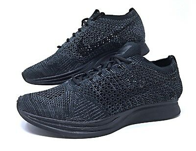 official photos 8a85d 4097a Nike Flyknit Racer Triple Black Anthracite Mens Womens Running Shoes 526628  009