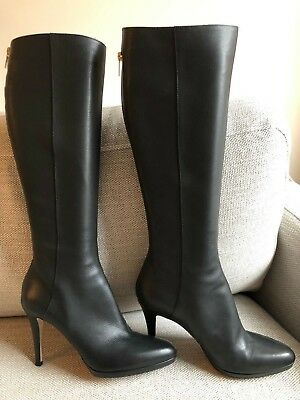 6719f75176f2 BNIB Jimmy Choo GLYNN 100mm Knee High Boot BLACK SZ 40.5 MSRP  1