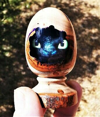 Mini Baby Dragon Egg made with Laurel Wood,Resin,egg decor,dragon eyes,fantasy