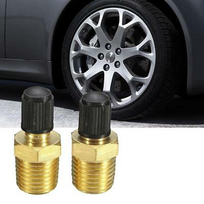 1 Pair 1/4in Brass Tire Tyre Air Compressor Tank Fill Valves for Dunlop Valve