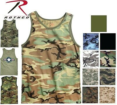 129ddede8c0e69 Camo Tank Top Sleeveless Muscle Tee Camouflage Tactical Army Military T- Shirt