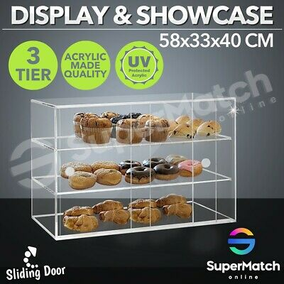 Cupcake Display Large Acrylic Cake Bakery Cabinet  Muffin Donut Pastries 5mm