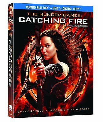 The Hunger Games Catching Fire (2014 Blu-Ray + Dvd) New, Sealed In Slipcover
