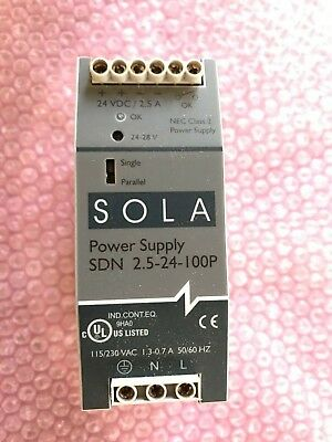 Sola Switching Power Supply  Sdn 2.5-24-100P  *slightly Used*