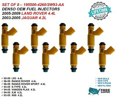OEM Denso  2W93-AA  Fuel Injectors For 2005-09 Land Rover LR3 4.4L V8  SINGLE