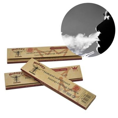5x Hornet Organic Brown Smoking Cigarette Rolling Paper 32 leaves Gift Trendy