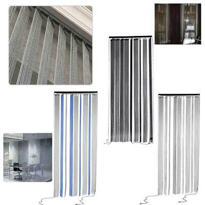 Home Metal Chain Curtains Patio Net Fringe for Door Fly Screen Windows Divider