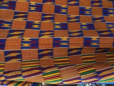 Kente handwoven cloth from Ghana fabric 340 cm  X 216 cm