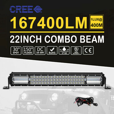 """22INCH Lumileds LED Light Bar Triple Row Combo Beam Work Driving Offroad 4WD 23"""""""