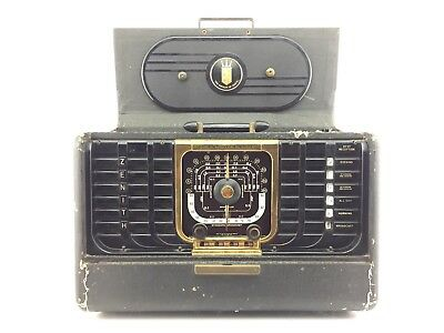 ZENITH TRANS-OCEANIC G500 (1950) Short Wave Radio WORKING / ORIGINAL Unrestored