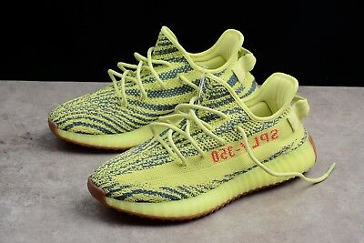 ADIDAS YEEZY BOOST 350 v2 Semi Frozen Yellow UK Size 9.5