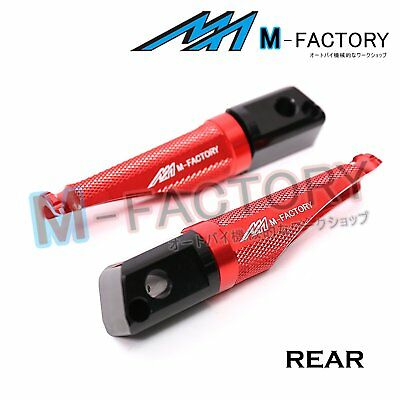 Fit MV Agusta Brutale All Year Red Passenger Footpegs Footrests