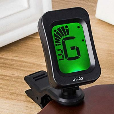 Clip-on Electronic Digital LCD Guitar Tuner Acoustic Bass Violin Ukulele Tuning