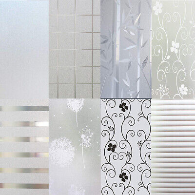 Privacy White Frosted Window Film Frost Etched Glass Static Plastic Vinyl UK