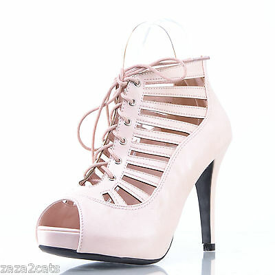 2b254d565bcf9 Escarpins Femme Sexy 39 SOIREE MULTI BRIDE OPEN TOE SIMILI CUIR ROSE NACRE  TOO