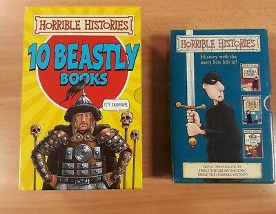Terry Dreary Horrible Histories Box Sets x 2. (10 Beastly Books plus set of 3)