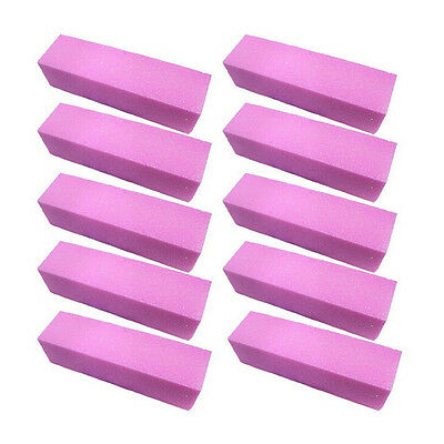 Unique 5/10 Pink Buffing Sanding Buffer Block Files Acrylic Nail Art  Manicur Rs
