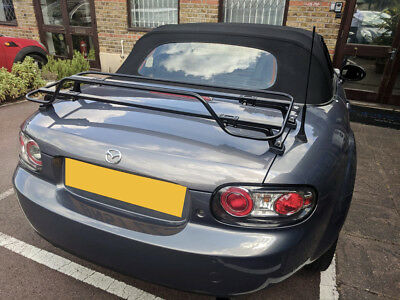 Mazda MX5 MK3  / Miata NC Luggage Boot Rack - Stunning Modern Black Rack 2005-15