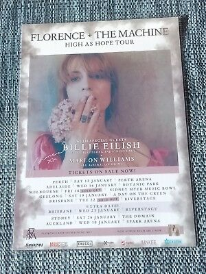 Florence + The Machine - 2019 Australia Tour Poster Signed Autographed Laminated