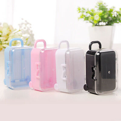 Mini Simple Rolling Travel Suitcase Box Wedding Party Reception Candy Toys New