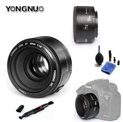YN50mm F1.8 Large Aperture Auto Focus Fixed Lens for Canon + 3 in 1 Cleaning Kit