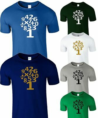 Kids Novelty T Shirt School Maths Day Numbers and Symbol Boys Girls Tree Top Tee