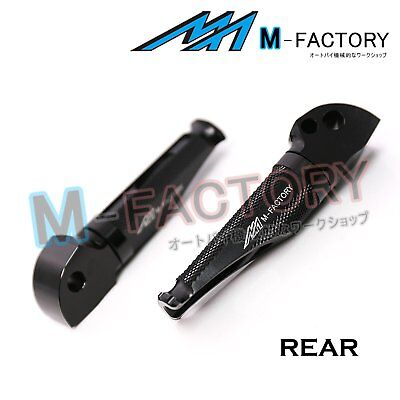 Fit MV Agusta F4 1000R / S All Year Black Passenger Footpegs Footrests