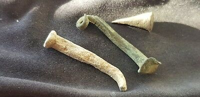 Viking area finds three nails from Northumberland A must read description L27