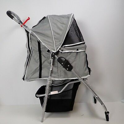 Dog Stroller Pet Travel Pram Carrier Light Weight Foldable 4 Wheel Cat Pushchair