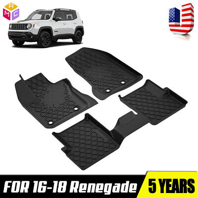 Renegade 2016-2018 TPE Mat Front Rear Floor Mats Set All Season 3PCS