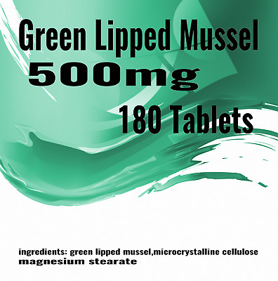 180 x Green Lipped Mussel Extract Tablets 500mg Quality Supplement