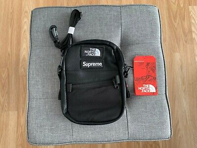 44cfdf0b Supreme x The North Face - Leather Shoulder Bag Black Fall Winter FW18 2018  NEW