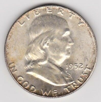 1952-D Franklin Silver Half Dollar-Uncirculated-Uncertified