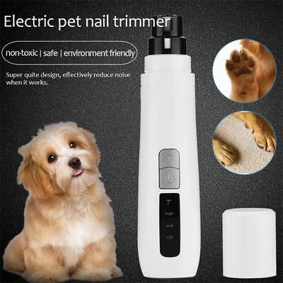Electric Pet Dog Cat Toe Claw Nail Trimmer Care Grooming Grinder Clipper Tool US
