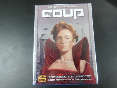 COUP Secret Identities Deduction Deception Indie Boards & Cards Game IBCCOU1 NEW