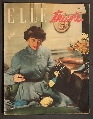 'elle' French Vintage Magazine Knitwear Issue 16 September 1947