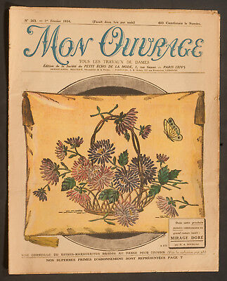 'mon Ouvrage' French Vintage Newspaper 1 February 1934