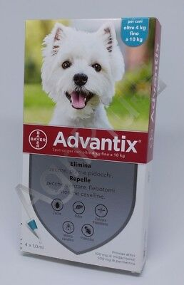 Advantix Antiparassitario spot-on per Cani 4 - 10 Kg, 4 pipette