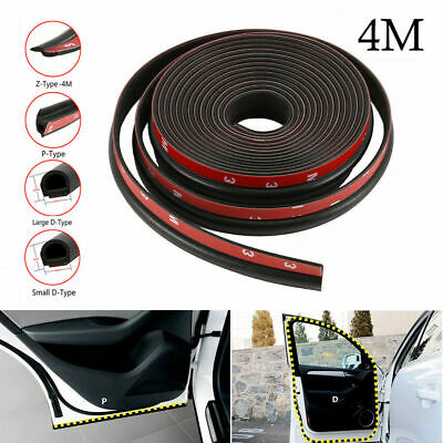 4M Car Small D P Z Shape Rubber Seal Strip Insulation Weatherstrip Sealing Trim